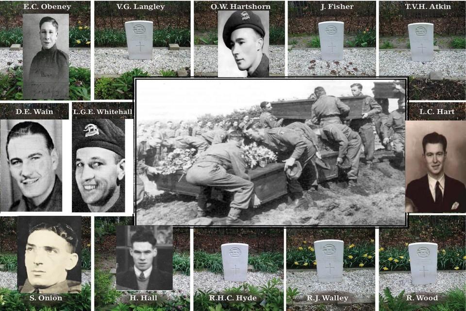 Zeven Britse soldaten op de Noorderbegraafplaats, die door een explosie bij de ontwapening van Duitsers om kwamen, hebben inmiddels een gezicht gekregen.
