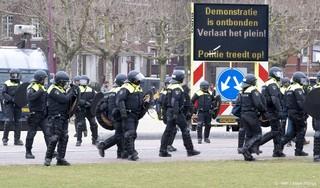 Politie verricht arrestaties bij betoging op Museumplein