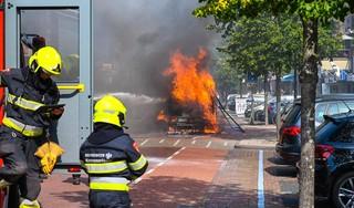 Bestuurder duwt brandende camper door winkelstraat Heemskerk. 'Hij wilde andere auto's niet beschadigen. Heel dapper'