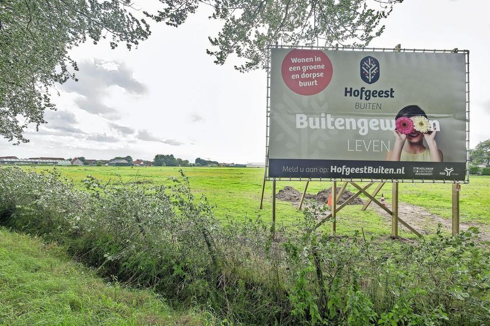 De bouwlocatie Hofgeest-Buiten. United Photos/Paul Vreeker.