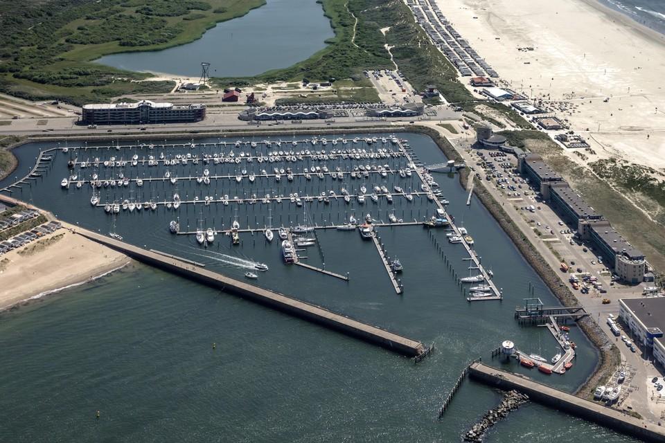 De veronderstelde plek van het duurzame klimaatmuseum BRAK: de jachthaven van IJmuiden.
