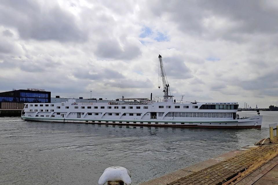 De MS Liberty Ann moet nog van Arnhem naar Haarlem varen.