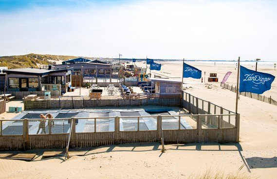Paviljoen Zuidpier vanaf nu Zan Diego Zuid en een geheel met Zan Diego Zand: 'Door samen te gaan maken we beide strandtenten sterker'