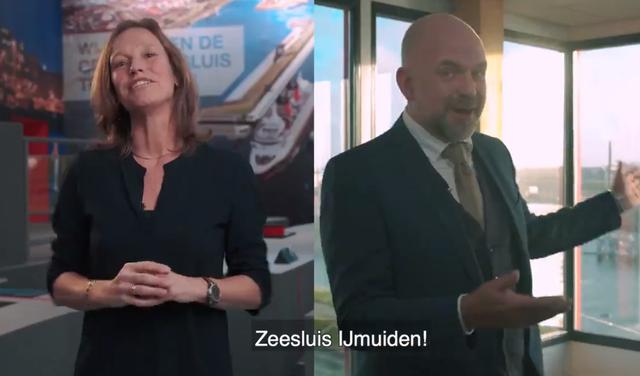 Velsense wethouder Verwoort heeft 'zitten gieren' om de grappen over Zeesluis IJmuiden. 'Zo voor de hand liggend dat ik er zelf nooit was opgekomen' [video]