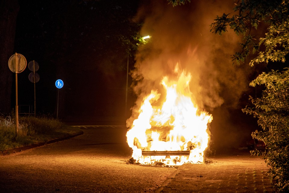 De brandende bus van Dirk de Leur.