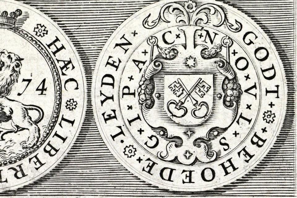 Leids papieren noodgeld uit 1574.