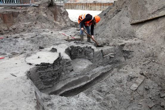 Opgravingen van blekerij in Santpoort-Zuid