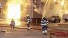 Loodsbrand in vrieskou: ondernemers kijken toe met koffie in de hand