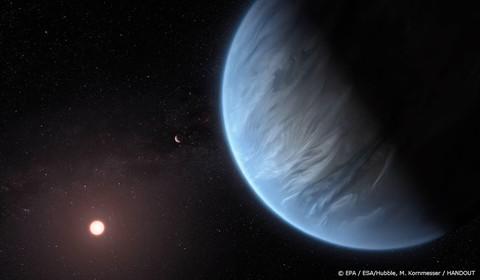 Sporen van water op planeet bij andere ster