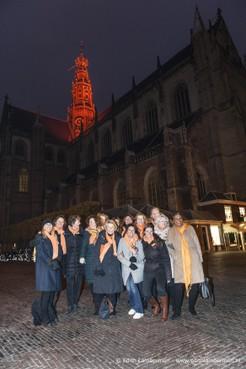 Zeven markante gebouwen in Haarlem en regio kleuren oranje, om aandacht te vestigen op geweld tegen vrouwen