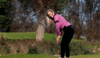 Marloes Olling voelt zich op de golfbaan in haar element