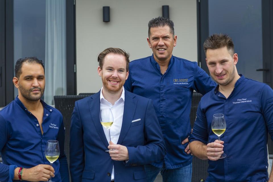 Met Thomas Diepersloot (r) gaat Jacob Jan Boerma in Antwerpen restaurant Fine Fleur openen.