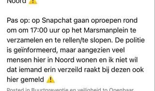 Buurtbewoners uit Haarlem-Noord maken zich zorgen om geplande rellen aan Marsmanplein