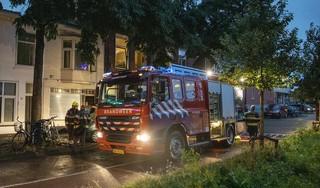 Brand in meterkast van woning Haarlem, oorzaak vermoedelijk blikseminslag [video]