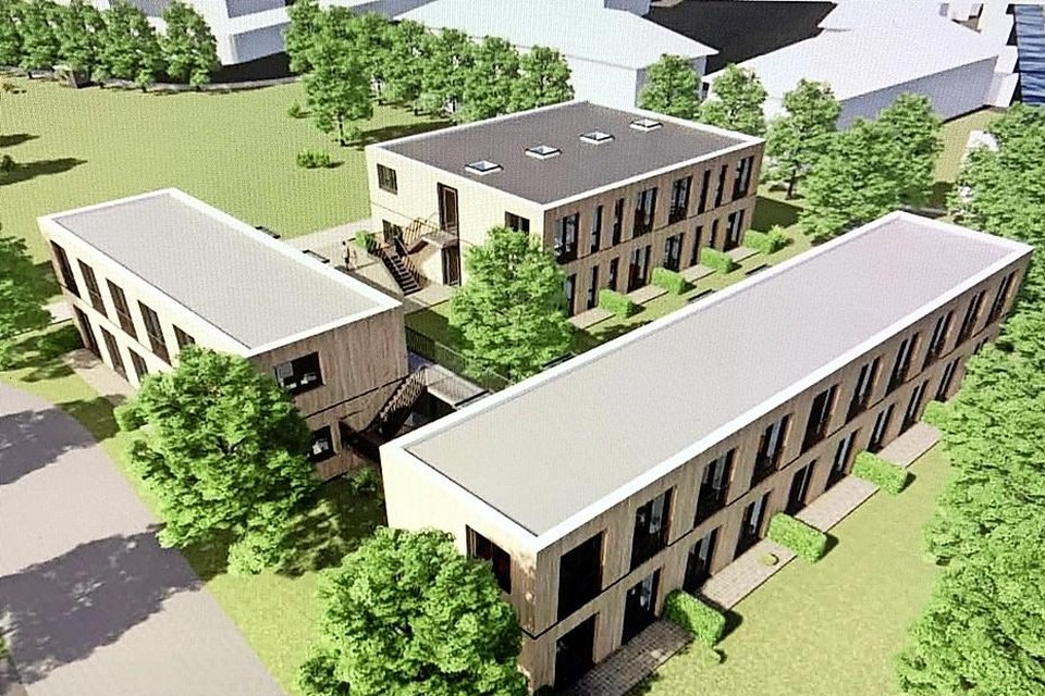 De geplande woningen op Blekersveld, naar een ontwerp van architect Wouter Zaaijer.