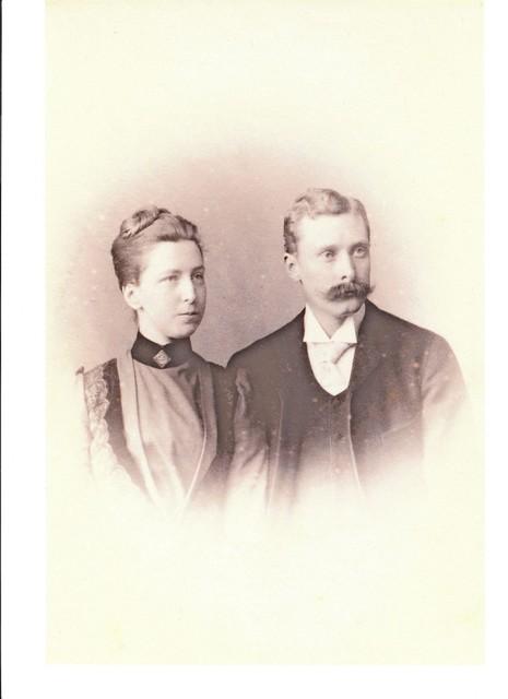 Verlovingsportret van Louise Six en Frans Blaauw