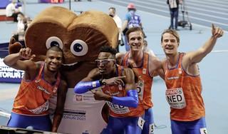 Jochem Dobber uit Santpoort-Zuid verovert met estafetteploeg goud op de 4x400 meter bij EK indooratletiek