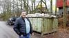 Fikse boete voor Eemnesser Sandy Zanoli voor plaatsen container langs Rijksweg: 'Ik krijg het gevoel dat de boa's op me loeren'