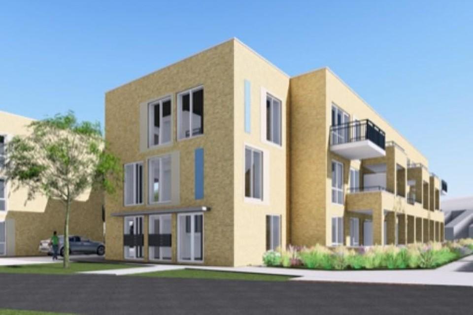 Een artist impression van de nieuwe woningen in Mariahoeve.