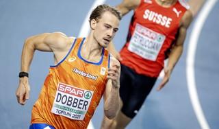 Jochem van Dobber behaalt de vijfde plek op 400 meter tijdens EK indooratletiek in Polen