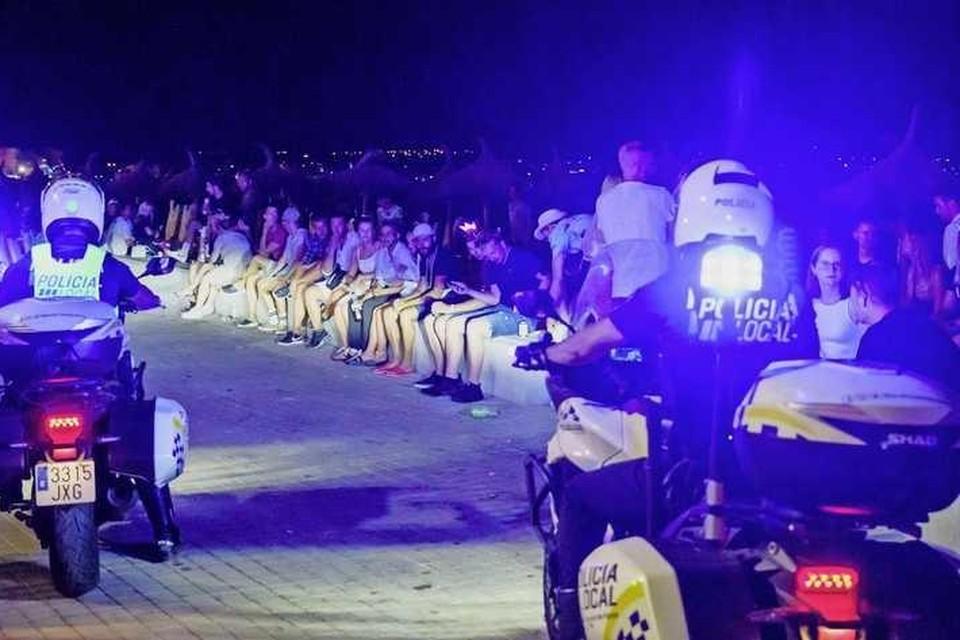 Politieagenten op Mallorca.