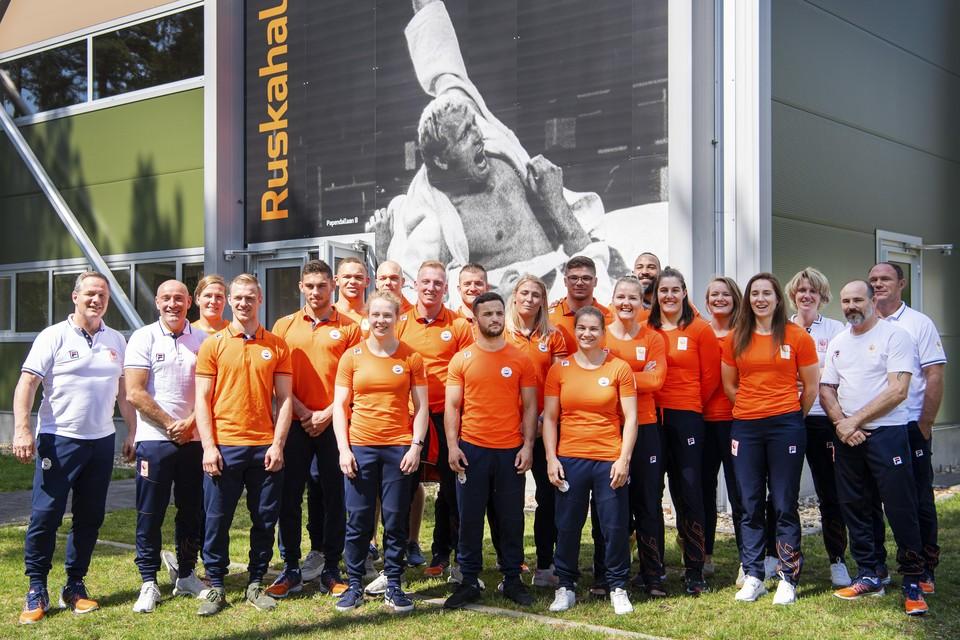 Het Nederlands team een jaar geleden in de aanloop naar het WK.