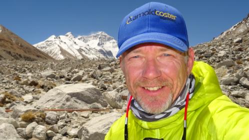 Zware beproeving: Wilco Dekker uit Naarden nadert de top van de Mount Everest