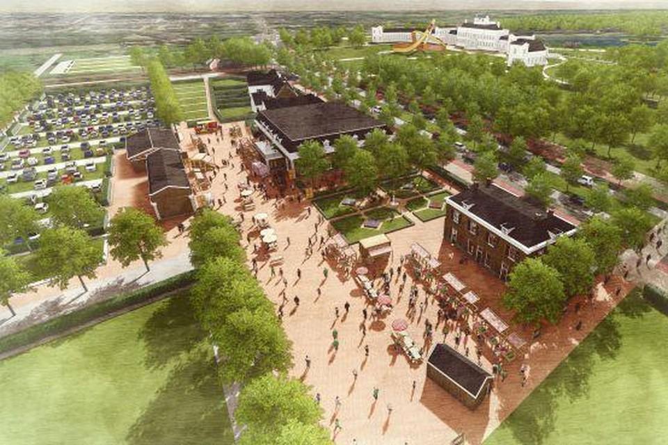 Impressie plan voor Paleis Soestdijk.