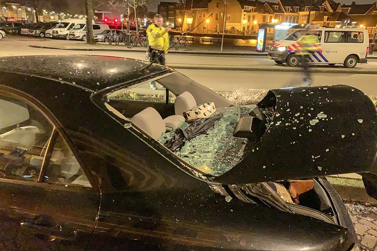 Flinke ravage bij ongeval op Koudenhorn in Haarlem