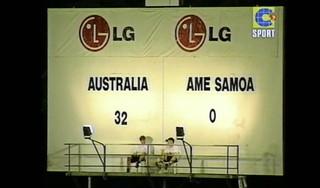 Vandaag in 2001: Australië vernietigt Amerikaans Samoa met 31-0 of was het nou 32-0? [video]