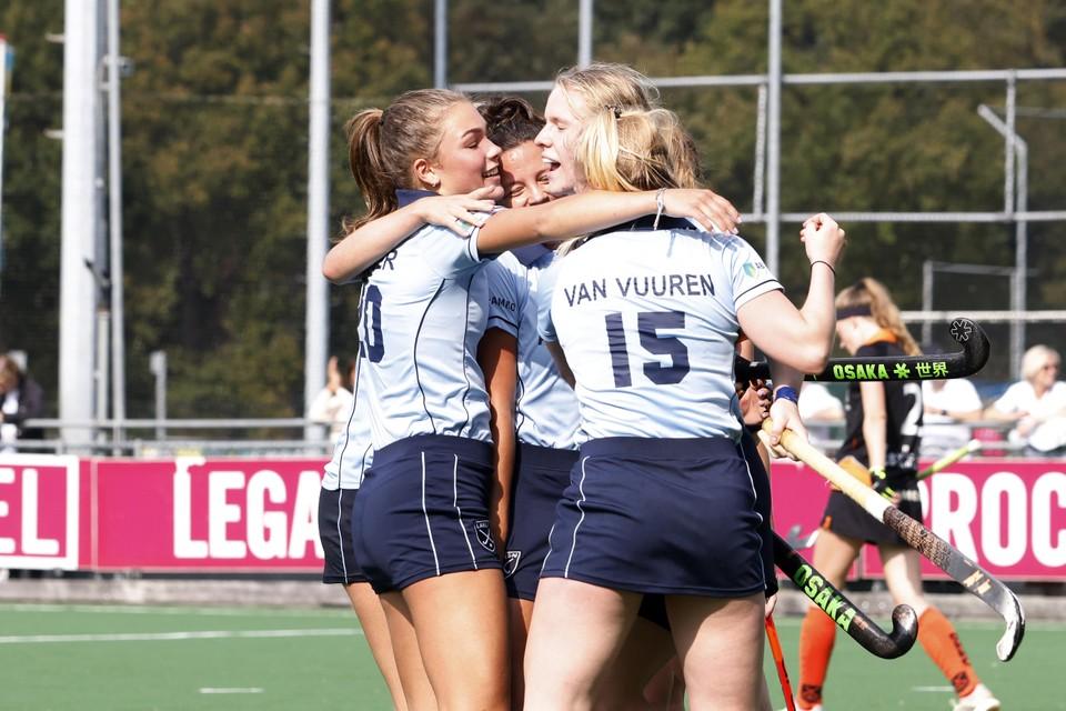 Een goal van Mylee Vos de Mooij volstond niet voor Laren.