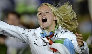 Philipine van Aanholt kwam uit onder de olympische vlag. 'Interviews met BBC en CNN, ik kreeg zelfs een huwelijksaanzoek'