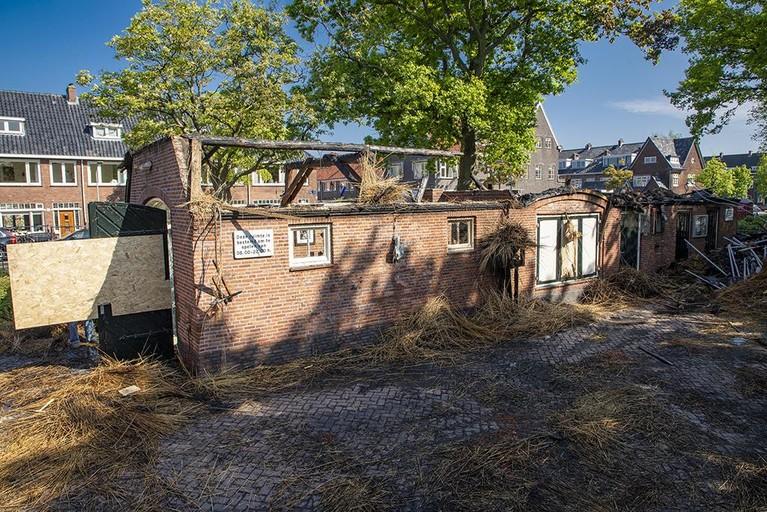 Ravage na de brand in Haarlems buurthuis