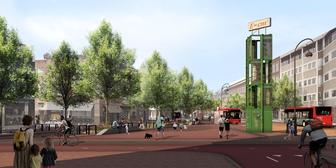Bomenkap onvermijdelijk bij herinrichting Houtplein in Haarlem?