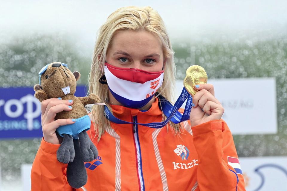 Van Rouwendaal met goud op EK 10 kilometer in Budakalasz, mei 2021.