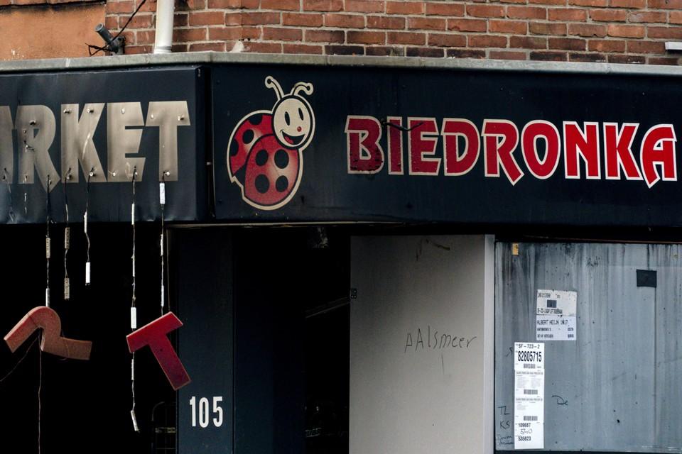 De getroffen winkel in Aalsmeer.
