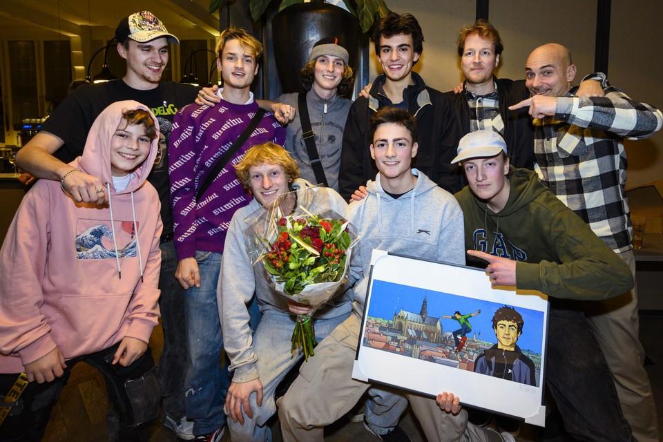 Thomas Adamidis werd Persoon van het Jaar 2019. De skater kreeg de meeste stemmen omdat er dankzij hem een skatehal in Haarlem is gebouwd.