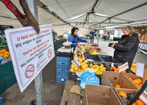 Weekmarkten Velsen kunnen ook na nieuwe maatregelen kabinet doorgaan