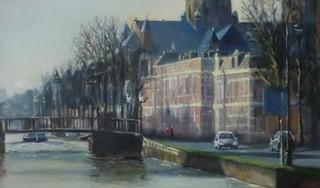 Lard van de Pal legt Haarlem vast in olieverf, expositie bij Galerie Mark Keppel