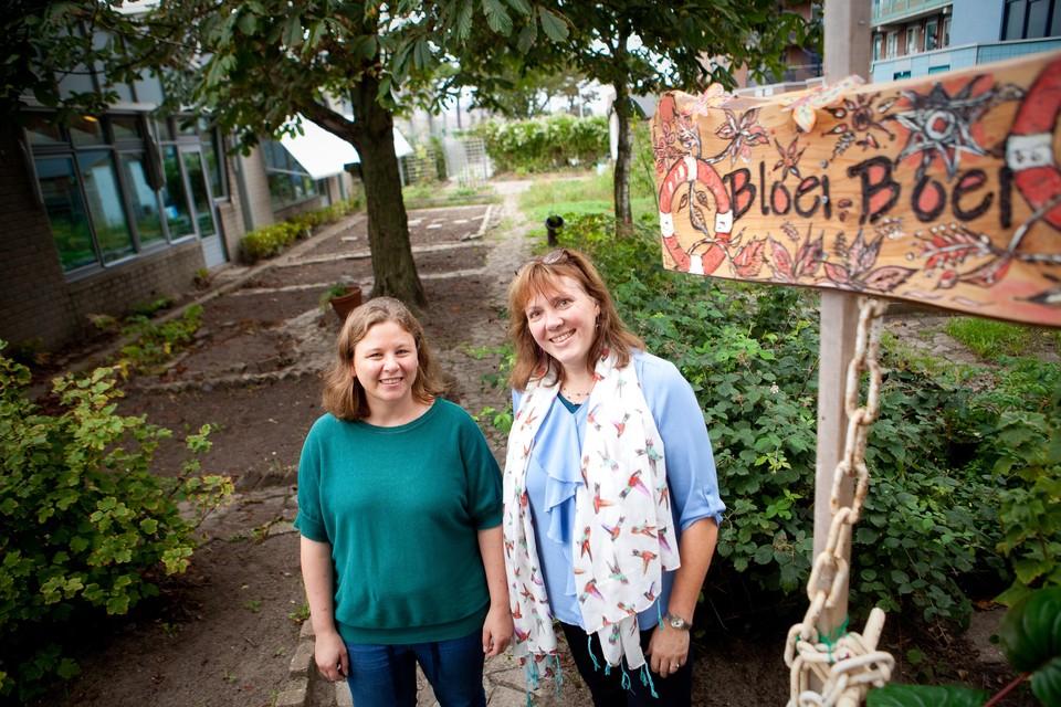 Winonah Joubert (links) en Sigrid Haag zijn trots op het werk dat al is verzet voor project Bloei Boei.