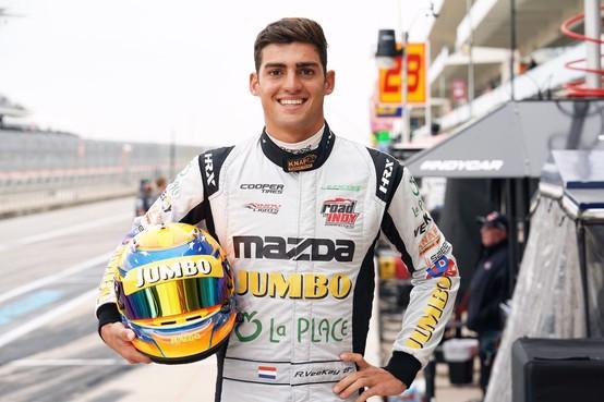 Primeur voor Rinus van Kalmthout: jongste Indy Car-coureur uit Nederland ooit