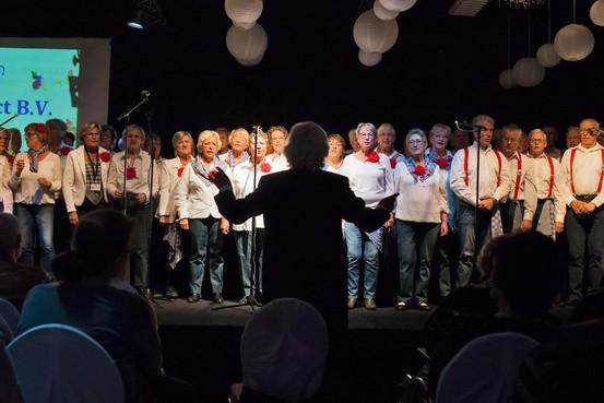 Kerstsamenzang bij Harmoniekoepel