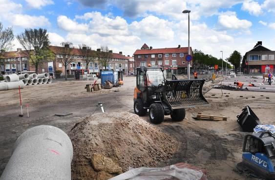 Verkeersknooppunt Kennemerplein in IJmuiden buiten gebruik