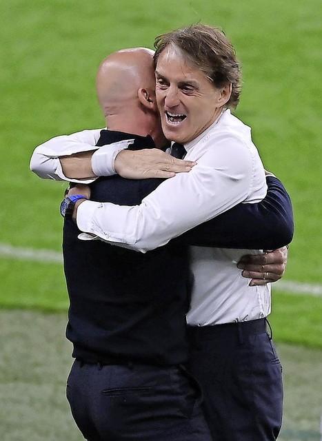 Gianluca Vialle en Roberto Mancini.