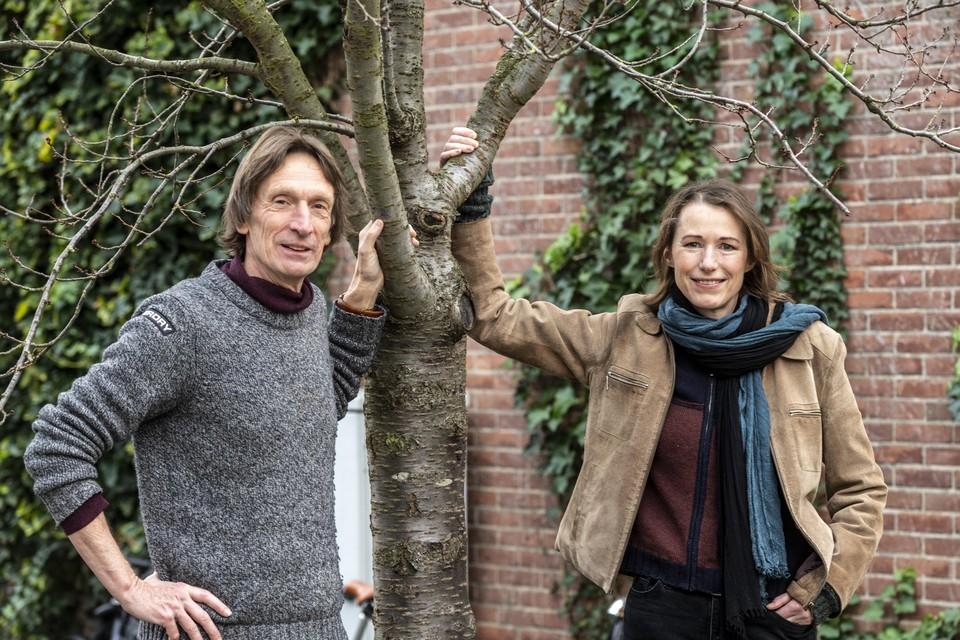 Marius Jaspers eerder dit jaar, op de foto met zijn partner Sylvia Hubers.