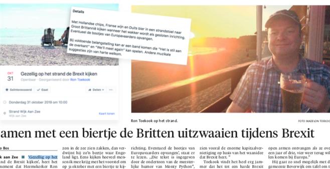 Burgemeester Beverwijk gaat om tafel met organisatie van Brexitfeestje Wijk aan Zee