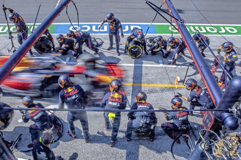 Pitstop van Max Verstappen bij de Dutch Grand Prix.