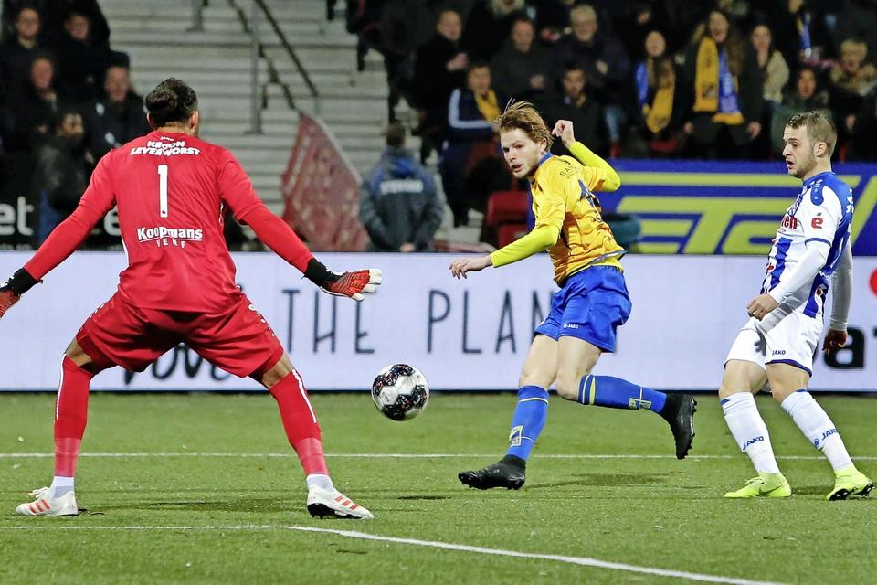 Amateurclub Odin'59 speelde in 2018 een thuiswedstrijd tegen Heerenveen en kwam al na enkele minuten op 1-0.