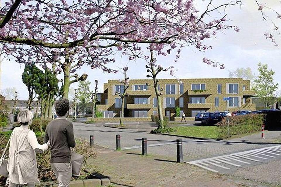Een impressie van de nieuw te bouwen woningen aan Het Anker in Muiden.