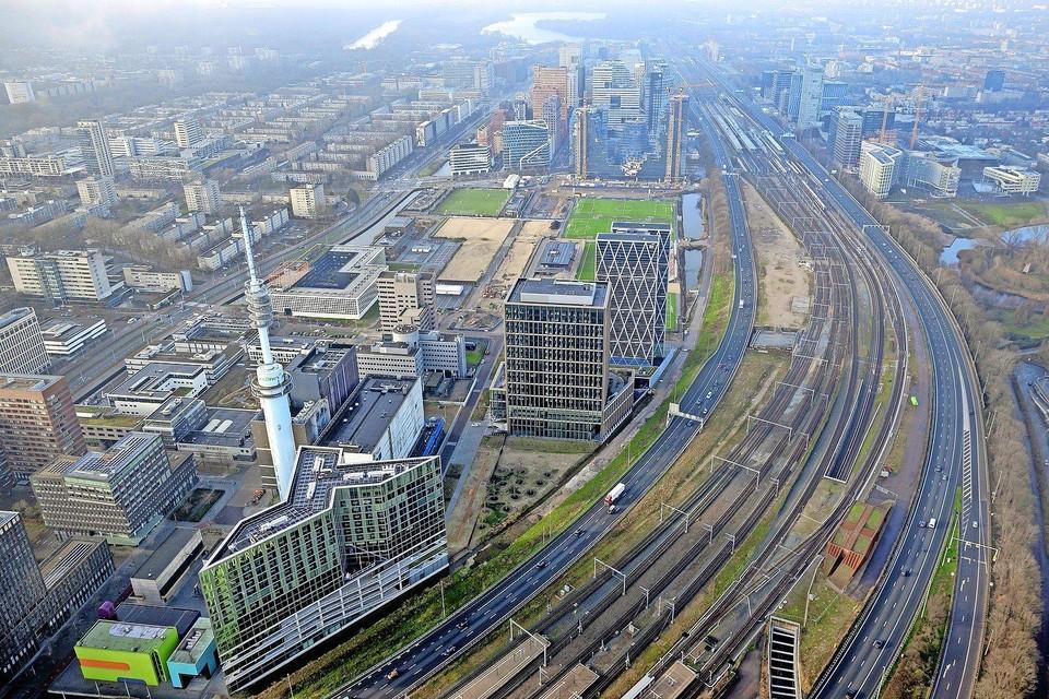 Een deel van de Amsterdamse Zuidas.